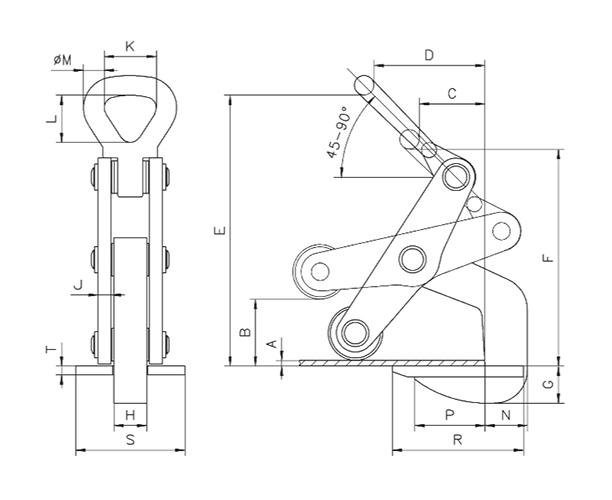 TWH technische Zeichnung