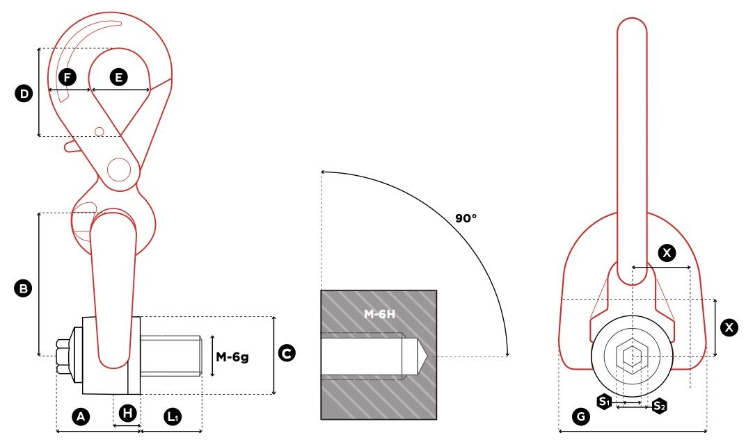 DSH technische Zeichnung