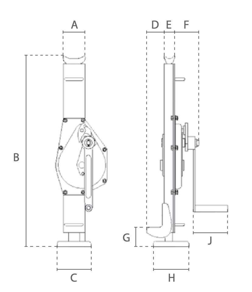 DTDK technische Zeichnung