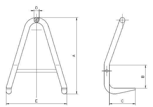 BVH technische Zeichnung