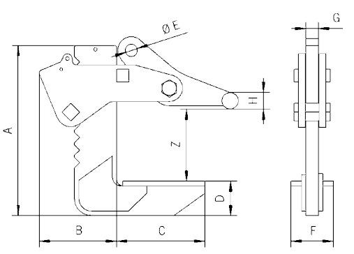 TGF technische Zeichnung