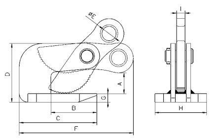 THK technische Zeichnung