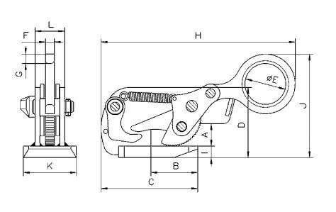 THS technische Zeichnung